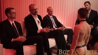 BoyForSale – Young boy's hole sampled and stretched by group of hung men